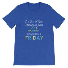 This t-shirt is everything you've dreamed of and more. Best Casual Outfits, Friday Feeling, Fabric Weights, Black And Brown, Short Sleeves, Mood, Unisex, Guys, Mens Tops