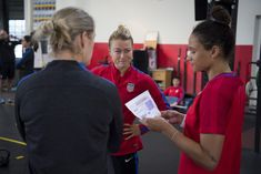 We spent a day with defender Emily Sonnett to get an inside glimpse into what goes down during a January Camp day for the U. Heavy Weight Lifting, Lift Heavy, Lynn Williams, Intense Games, Megan Rapinoe, Tobin Heath, Wnba, Training Day, Best Player