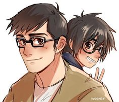 nerds <3 I love Tadashi in glasses