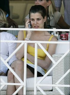 Princess Caroline of Hanover Princess Alexandra of Hanover Charlotte Casiraghi at the 13th Jumping in Monte Carlo Monaco on June 26 2008