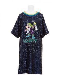 Dress Navy Grumpy | Mary Katrantzou x Disney x Colette Mary Katrantzou, Navy, Disney, Mens Tops, T Shirt, Dresses, Fashion, Hale Navy, Supreme T Shirt