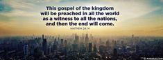 Matthew 24:14 - Google Search