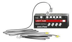 Lights & Hub Set - Just Plug® Lighting System - Woodland Scenics - Model Layouts, Scenery, Buildings and Figures Santa Ornaments, Christmas Ornament, Deck The Halls, Lighting System, Fairy Houses, Plugs, Woodland, Lights, Handmade Gifts