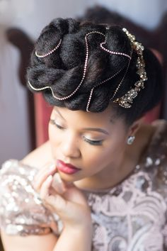 Natural Belle: An Interview and Editorial Shoot with Natural Hair Beauty Maven Ebony Clark Wedding Braids, Braided Hairstyles For Wedding, Bride Hairstyles, Stylish Hairstyles, Bridal Hair Inspiration, Natural Hair Inspiration, Afro, Dream Hair, Hair Art