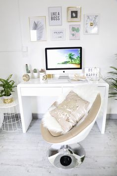 Aménagement bureau dans un salon + DIY #workspace #officedecor