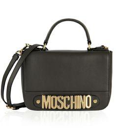 Moschino Bag black http://iloveloud.com/moschino/1052-shoulder-bag-golden-letters.html