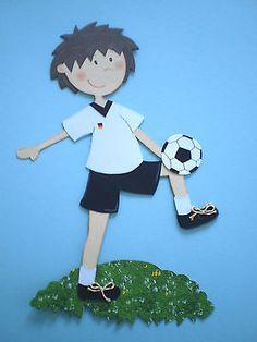 Fensterbild  - Junge - Fußball -Schultüte-Dekoration -Tonkarton!