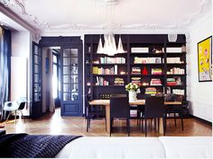 black french doors /