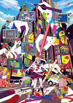 ペインティング・ペイン by まがた | CREATORS BANK http://creatorsbank.com/cackypa/works/295867
