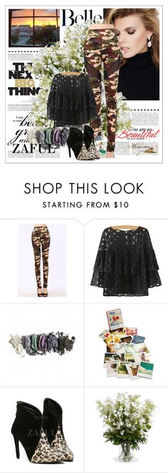 """""""www.zaful.com/?lkid=4313"""" by amelakafedic ❤ liked on Polyvore featuring SUITEBLANCO, Chronicle Books and New Growth Designs"""