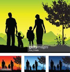 Familia Silueta de calidad tiempo juntos