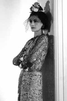 "Coco Chanel (Gabrielle Bonheur 1883–1971) was a French fashion designer, founder of the Chanel brand and credited for liberating women from the ""corseted silhouette"""