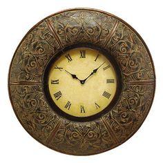 Amanzio Wall Clock Bronze