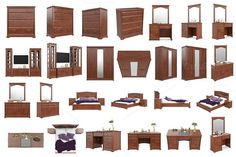 Set classic furniture, isolated @creativework247