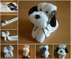 Wash Cloth Puppies Easy Video Instructions Lots Of Cute Ideas - Washcloth - Ideas of Washcloth - These Wash Cloth Puppies are super cute and perfect for a baby shower gift! Theyre fun and easy to make and the recipient will love them. Baby Crafts, Easter Crafts, Crafts For Kids, Dog Themed Crafts, Summer Crafts, Homemade Gifts, Diy Gifts, Towel Origami, Towel Animals