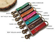 Mens keychain, handmade leather keychain personalized, key chains for women, gift ideas, key organizer, LT589-brown by TAleatherworks on Etsy https://www.etsy.com/listing/243121305/mens-keychain-handmade-leather-keychain