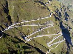 The Timmelsjoch Pass cuts through the Alps along the Austrian/Italian border. Rising to 10,000 feet.
