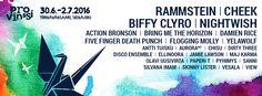 Provinssin 2016 ohjelmisto vahvistuu kattauksella punkia, vaihtoehtorockia ja hiphopia. Uusimmat kiinnitykset ovat Flogging Molly, Skinny Lister, Dirty Three, Disco Ensemble, Paperi T, View ja Maj Karma. Provinssin pääesiintyjiksi on kiinnitetty Rammstein, Cheek ja Nightwish.