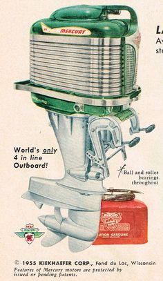 1955 Mercury outboard motor advert