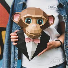 Origami Monkey, Electronic Paper, Cake Pop Tutorial, Slow Loris, Paper Plants, 3d Paper Crafts, Chimpanzee, A4 Paper, 8 Hours