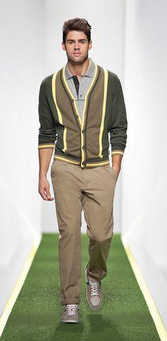 Nice cardigan.  Hugo Boss Green SS 2012