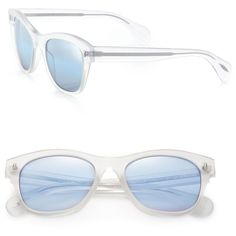 Oliver Peoples Sofee 53MM Square Sunglasses (3.095 HRK) ❤ liked on Polyvore featuring accessories, eyewear, sunglasses, apparel & accessories, turquoise, mirror glasses, oliver peoples, retro mirror sunglasses, oliver peoples sunglasses and uv protection glasses