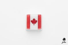 Keycap Canada Flag  MX stem 1u Acrylic UV