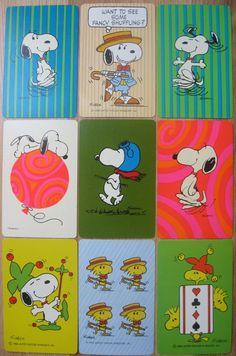 Vintage Snoopy Peanuts Playing Swap Cards | eBay
