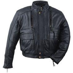 Mens leather motorcycle jacket custom made style 1045N $239.99 image