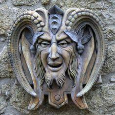 Faunus the Roman Pan Cornish Stone wall fountain | eBay