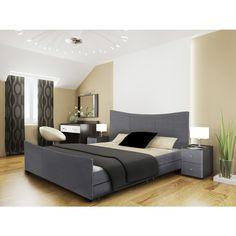 Mia Fabric Storage Sleigh Bed
