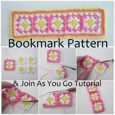 Granny πλατεία Bookmark Pattern