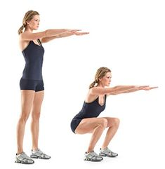 How to lose weight fast? Try this 10 pound early morning workout plan for fast weight loss. Squats exercise to lose 10 pounds. Fast weight loss tips. Lose 10 pounds in one week. Morning workout for weight loss. Entraînement Boot Camp, Boot Camp Workout, Squat Workout, Toning Workouts, At Home Workouts, Week Workout, Crossfit Exercises, Exercise Workouts, Daily Exercise