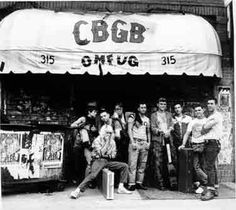 "C.B.G.B. - ""the birthplace of punk"" - in New York City."