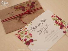 Convite de casamento -. Marsala