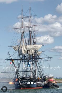 USS Constitution Turnaround with muzzle flame salute - Boston, MA