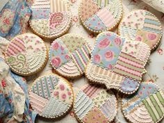 New cookies decoradas shabby chic ideas Spice Cookies, Cute Cookies, Cupcake Cookies, Sugar Cookies, Fancy Cookies, Shabby Chic Cookies, Galletas Cookies, Flower Cookies, Baby Shower Cookies