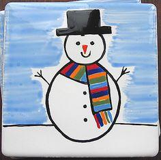 Snowman Christmas Coaster  £4.00