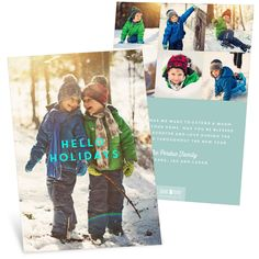 """Say """"Hello Holidays"""" with this fun card! It fits tons of photos so you can share highlights from the year! #holiday #foil #ChristmasCards"""