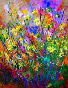 "Saatchi Art Artist: Pol Ledent; Oil 2013 Painting ""wilflowers SOLD"" saatchiart.com"