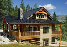 Small Post and Beam Homes | The Osprey 1 post and beam cedar home design showcases timbercrafted ...