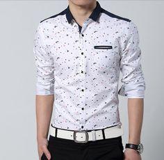 Men's Button Down Shirt with Paint Splash