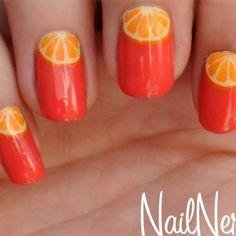 Nail Art Naranjas Paso a paso