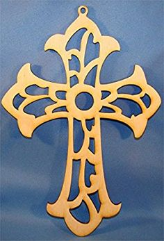 Wood Scroll Cut Cross