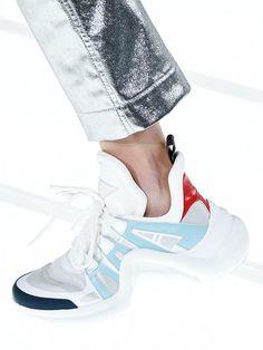 shoe trends 2018  futuristic sneakers at Louis Vuitton Louis Vuitton 3f2bdd2e3f