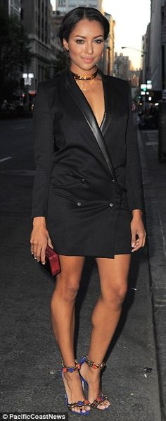 She's got some front! Kat Graham sported two deeply plunging tops as she attended the CW U...