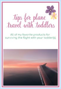 tips for plane travel with toddlers