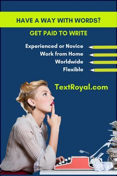 Love to write? This work from home job is for you! Fluent English, Work From Home Jobs, Need You, Writer, Love, Reading, Words, Amor, Writers