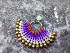 Boho Hippie Chic Macrame earrings with by RitaPratesCaetano