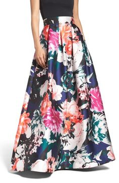 Eliza J Floral Ball Skirt available at #Nordstrom